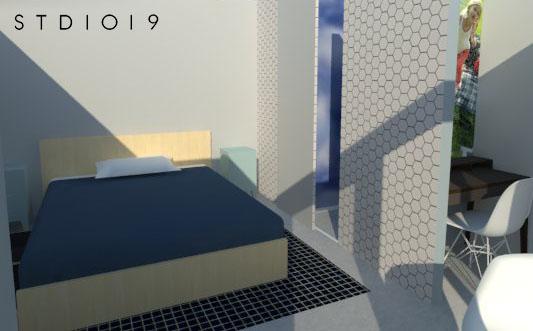 master bedroom met inloopkast en badkamer en suite - Studio1019