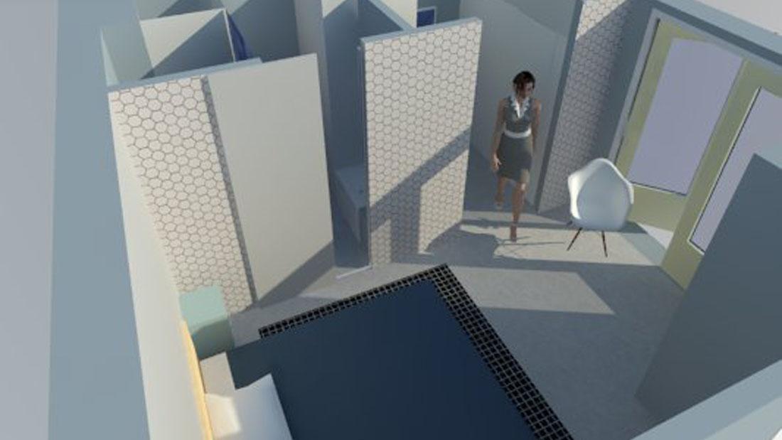 Kleine Ensuite Inloopkast : Master bedroom met inloopkast en badkamer en suite studio